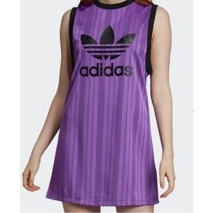NWT Adidas | Trefoil | Long purple Top/Dress